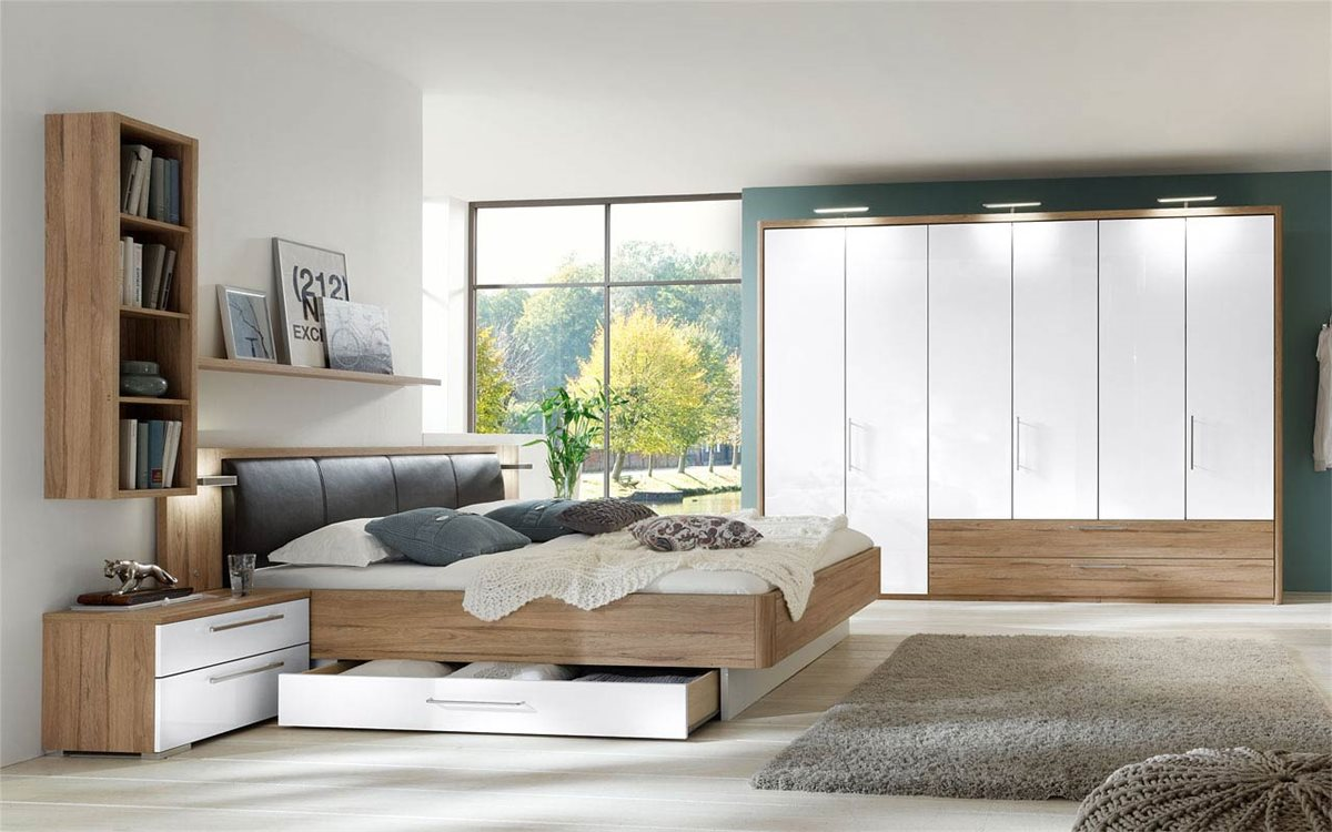 schlafzimmer regal ber bett beste ideen f r moderne. Black Bedroom Furniture Sets. Home Design Ideas